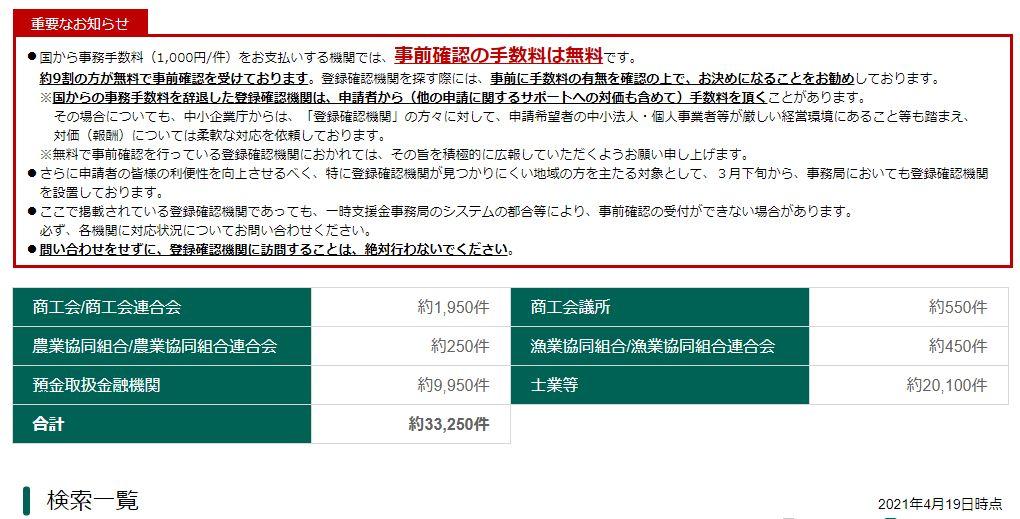 事前確認に関する重要なお知らせ(中小企業庁)